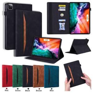 """Folio Stand Smart Leather Case Cover For iPad 5th 6th 7th 8th Gen 9.7 10.2"""" Mini"""