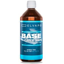 1000ml/1L Elvapo BASE E-Liquid Basis Daily Vape - 0mg/ml  f. Aromen E-Zigarette