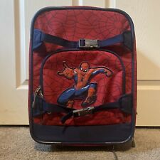 Pottery Barn Kids Marvel Comics Spiderman Rolling Luggage Suitcase Red