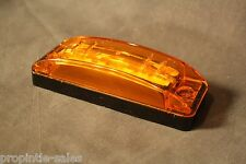 LED Amber Turtle back ~ Black base GROTE 47163-3