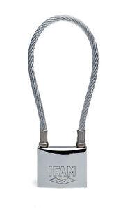 IFAM CABLE MARINE PADLOCK.KEYED ALIKE MODEL. 50mm LOCK . 31cm FLEXIBLE CABLE.