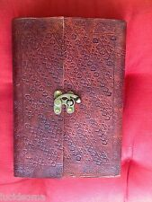 7.5x10.5 Handmade Leather Journal Sketchbook diary with Lock Eco Paper