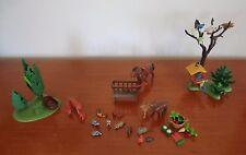 Playmobil Wald Futterkrippe Pferd Vogelhaus sehr viele kleine Tiere + Zubehör,