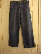 Boy's Old Navy Loose Painter Denim Adjustable Waist Jeans Size 16 Reg 28 x 28