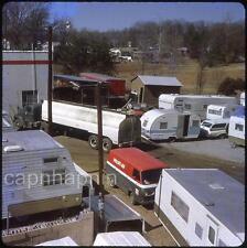 Gas Tanker Truck Phillips 66 Van Travel Trailers Campers Vtg 1960s Slide Photo