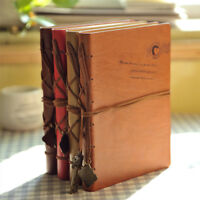 Kraft paper Retro Vintage Leather Bound Notebook Blank Page Journal Diary
