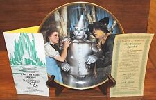 The Tin Man Speaks from Wizard of Oz 1939 23K Gold Rim Hamilton Collector Plate!