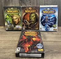 Lot of 4 World of Warcraft Original PC Game w/ 3 Expansion Box Sets