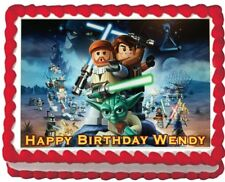 Star Wars Lego Edible Cake Topper Icing Image sheet Personalized Decoration