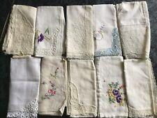 10 Antique Handkerchiefs