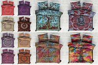 Indien Couverture Doona Housse Hippie Mandala Bohème Consolateur Set