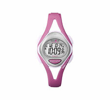 Timex T5k702 Womens Ironman Triathlon Pink Sleek 50 Lap Watch New Running