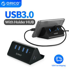 ORICO 4 Ports USB 3.0 HUB with Phone Tablet Holder 3.3 Ft USB Cable Fr PC Laptop