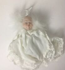 Porcelain Angel Baby Ornament By Artist Lydia Steinke