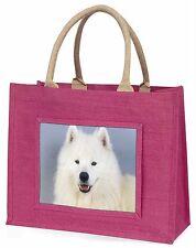 Samoyed Dog Large Pink Shopping Bag Christmas Present Idea, AD-SO76BLP
