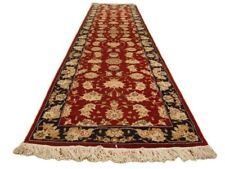 10 ft Burgundy Trailer Runner Rug 28 x 120 in Handmade Scandinavian Style Rug