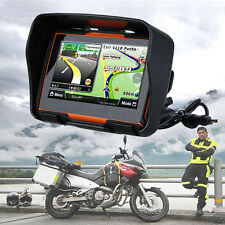 "4.3"" Motorbike GPS Navigation SAT NAV 8GB Motorcycle Bike Navigator Waterproof"
