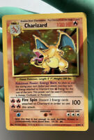 Pokemon Card CHARIZARD Holo Base Set 4/102 Rare - 1999 NM Original