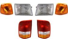 1993-1997 Ford Ranger For Headlights Tail Lights And Park Lights Set Of 6 Nice
