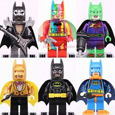 "6pcs Batman Limited Edition "" Rainbow Batman "" Mini Figures Custom Made Lego"