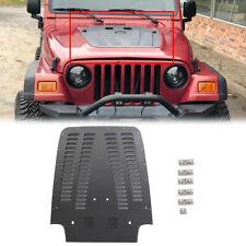 Vented Hood Louver Aluminum Black Powder Coated For Jeep Wrangler Tj 97 02 Fits 1997 Jeep Wrangler