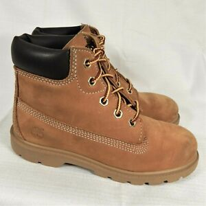 Timberland Toddler Work Boots 10860 Nubuck Leather Gold Wheat Waterproof Size 12
