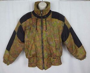 Vintage Edelweiss Ski/ Snow Jacket ~ Abstract Art Design ~Multi Color~ Women's S