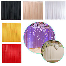Backdrop Curtain Silk Wedding Party Background Photography Event Without Swag