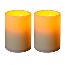 2 Pieces LED Flameless Tealights Battery Operated Flickering Tea Light Candles