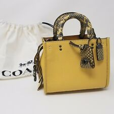 New Coach 12160  Rogue 17 With Colorblock Snakeskin Detail in Sunflower