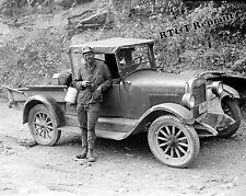 Historical Photograph of a Coal Miner's Truck Caples West Virginia  1938  8x10
