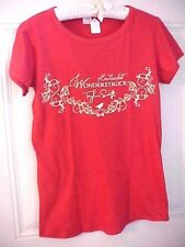 Womens Tee Shirt Taylor Swift SZ M  Red 100% Cotton Enchanted Wonderstruck
