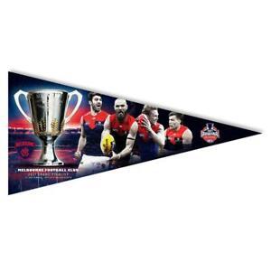 AFL MELBOURNE DEMONS 2021 PREMIERS GRAND FINALISTS PENNANT WALL FLAG