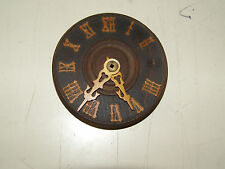 "Antique German Coo Coo Clock dial with hands, many original numerals 3 1/4"" dia"