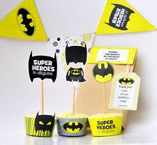 Batman birthday party decoration printables superhero party decor party supplies