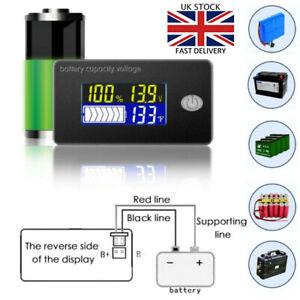 12/24/48V Battery Capacity Status LCD Digital Display Indicator Monitor Meter W