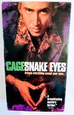Snake Eyes Vhs 1998 Thriller Nicholas Cage Gary Sinese Carla Gugino John Heard