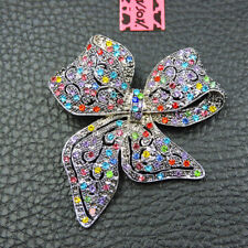 Betsey Johnson Colorful Crystal Enamel Exquisite Bowknot Charm Brooch Pin