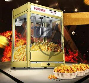 220V Automatic Electric Popcorn Machine Commercial Popcorn Maker 1.6kw