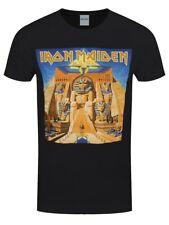Iron Maiden T-shirt Power Slave Album Cover Men's Black