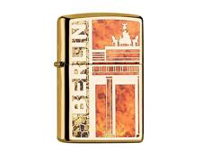 "ZIPPO ""BERLIN/ BRANDENBURGER TOR Z-FUSION"" POLISHED BRASS COLOR LIGHTER ** NEW *"