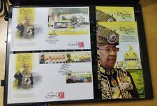 Malaysia 2016 Agong Tuanku Halim Sultan Kedah MS stamp FDC Designer Autograph