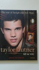 Taylor Lautner Me & You by Josie Rusher with poster Hardcover Brand New