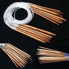 EE_ 18Sizes 40-120cm Tube Circular Carbonized Bamboo Knitting Needle Set Perfect