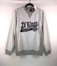 NEW CCM Men's Grey NHL LA Kings Hockey Sweatshirt Sweater Crew Size Medium $85
