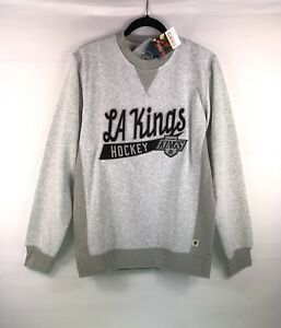 NEW CCM Men's Grey NHL LA Kings Hockey Sweatshirt Sweater Crew Size Medium $85
