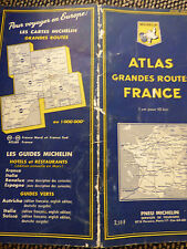 carte atlas bleu  michelin  grandes routes de france 1963 2