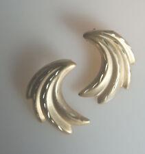 Estate Beautiful Diamond Cut Unique Designer Earrings Yellow Gold 14k Solid Gold
