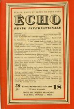 Echo n°18 - 1948 - Revue internationale - Nylon - Benelux - Gunnar Myrdal -