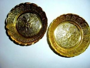 4 Brass Decorative Vintage Bowls Snack Bowl Home Decor India Art Christmas Gifts